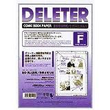 デリーター 漫画原稿用紙 A4メモリ付 Fタイプ 135kg 墨トンボ入 B5・同人誌用