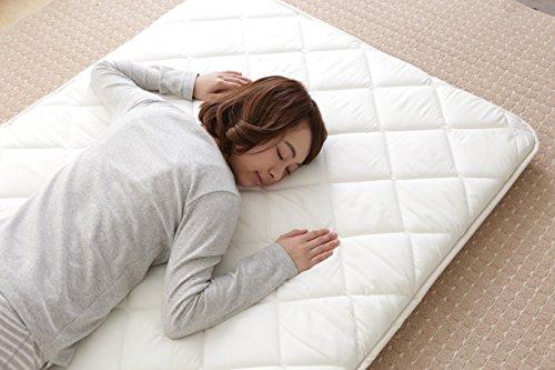 敷布団 抗菌 防臭 防ダニ 吸汗 速乾 超ボリューム 3層 日本製 シングル ホワイト