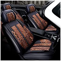 Mehoca PU with Linen 3D Full Surround Car Seat Protector Seat Cover Accessories Blue Car Electronics & Accessories