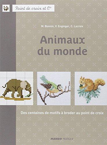 MANGO 「Animaux du monde」 刺しゅう作品・図案集-フランス語