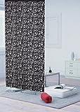ファニーストリングスのれん ローズ柄 ブラック色 10386 幅95cm×丈176cm