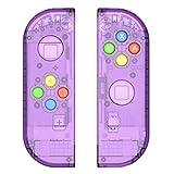 Myriann 任天堂 Nintendo Switch ニンテンドー カラー置換ケース 代わりケース 外殻 ついに登場! (ジョイコン-透明感 パープル)