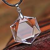 天然石 透明天然水晶六芒星(ダビデの星)ペンダントトップ