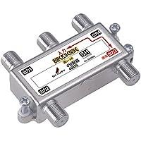 DXアンテナ 分配器 【2K 4K 8K 対応】 4分配 1端子通電形 金メッキプラグ F型端子 ダイカスト製高シールド構造 4DMS
