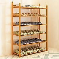 CKH シンプルな家庭用アセンブリ靴キャビネット経済防塵家族の木製棚多機能6層の靴のラック