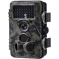 Powerextra トレイルカメラ 防犯カメラ 狩猟カメラ 野外監視カメラ 狩猟モニターカメラ 暗視カメラ 動物撮影12MP 1080P HD IP66超防水防塵設計 120°検知範囲