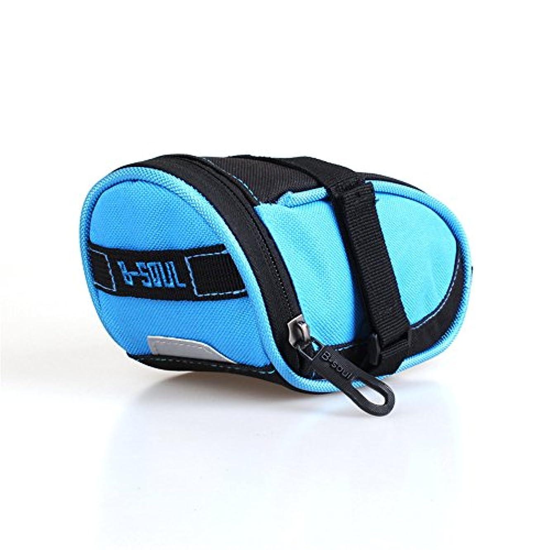 硬化するマッシュ組み立てる自転車シートパックバッグアウトドアスポーツタッチスクリーン携帯電話バッグ自転車フロントフレームマウンテンバイクマウンテンバイクサドルバッグ サイクリングバッグ防水 (色 : 青)