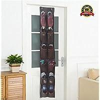 Shoe Organizer Over The Door HangingストレージポケットLargeメッシュ狭いクローゼット壁ドアShoe整理