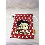 ベティちゃん Betty Boopの小物入れ BETTY巾着袋 キンチャク BB001 DOT RED ベティブープ ベティー ちゃん アメ雑 アメリカン雑貨