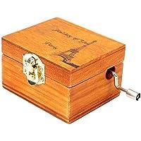 Geraffely オルゴール ロマンティック 音楽ボックス 木製メロディー イギリスの風 恋人誕生日 装飾品 置物 誕生日/結婚記念日/結婚祝い/卒業祝い/クリスマス ギフト最適 天空の城