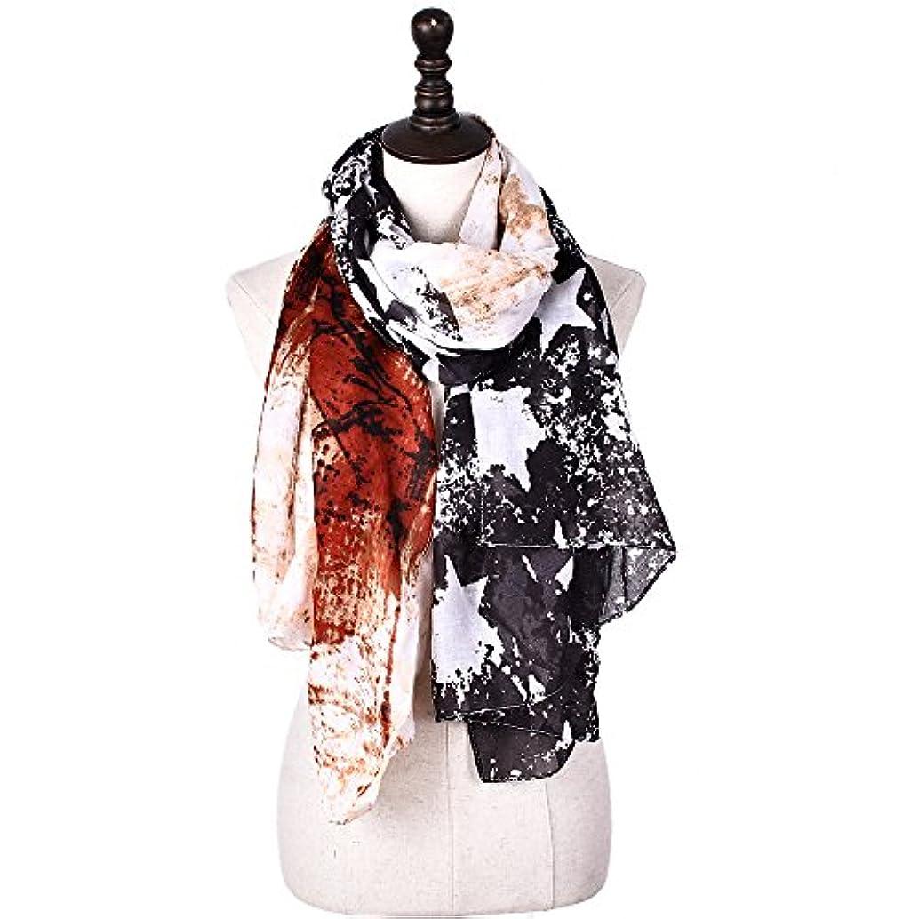 浸漬計画春Yao ファッションヴィンテージDoodleスカーフエスニックスタイルの星ストライププリントVoileプリントスカーフ女性のためのクラシック暖かいホリデーアウター
