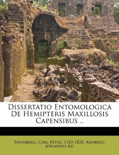Dissertatio Entomologica de Hemipteris Maxillosis Capensibus ..