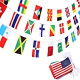 SATINIOR International Flags 200 Countries Olympic Flags World Flags Pennant Banner for Bar Classroom Olympic Party Decorations Sports Clubs International Events Celebration [並行輸入品]