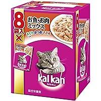 カルカン パウチ 成猫用 1歳から お魚・お肉ミックス まぐろ・かつお・ささみ入り 70g×8袋