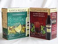 2本セット チリ大容量飲み比べセット(サンタ・レジーナ カベルネ・ソーヴィニヨン 赤ワイン フルボディ3000ml×2本 サンタ・レジーナ シャルドネ 白ワイン 3000ml×2本)