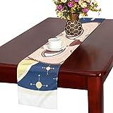 GGSXD テーブルランナー 小柄 オレンジ色猫 クロス 食卓カバー 麻綿製 欧米 おしゃれ 16 Inch X 72 Inch (40cm X 182cm) キッチン ダイニング ホーム デコレーション モダン リビング 洗える