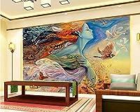 Minyose カスタム3D壁紙油絵ウィザード美の写真テレビの背景装飾的な3D壁紙壁画-250cmx175cm