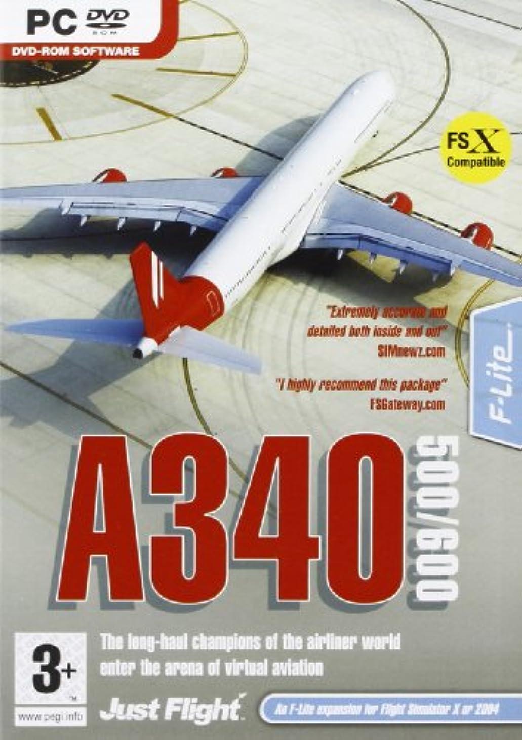 ポジティブ誓約敬意を表してA340 500/600 Add-on for Microsoft Flight Simulator 2004