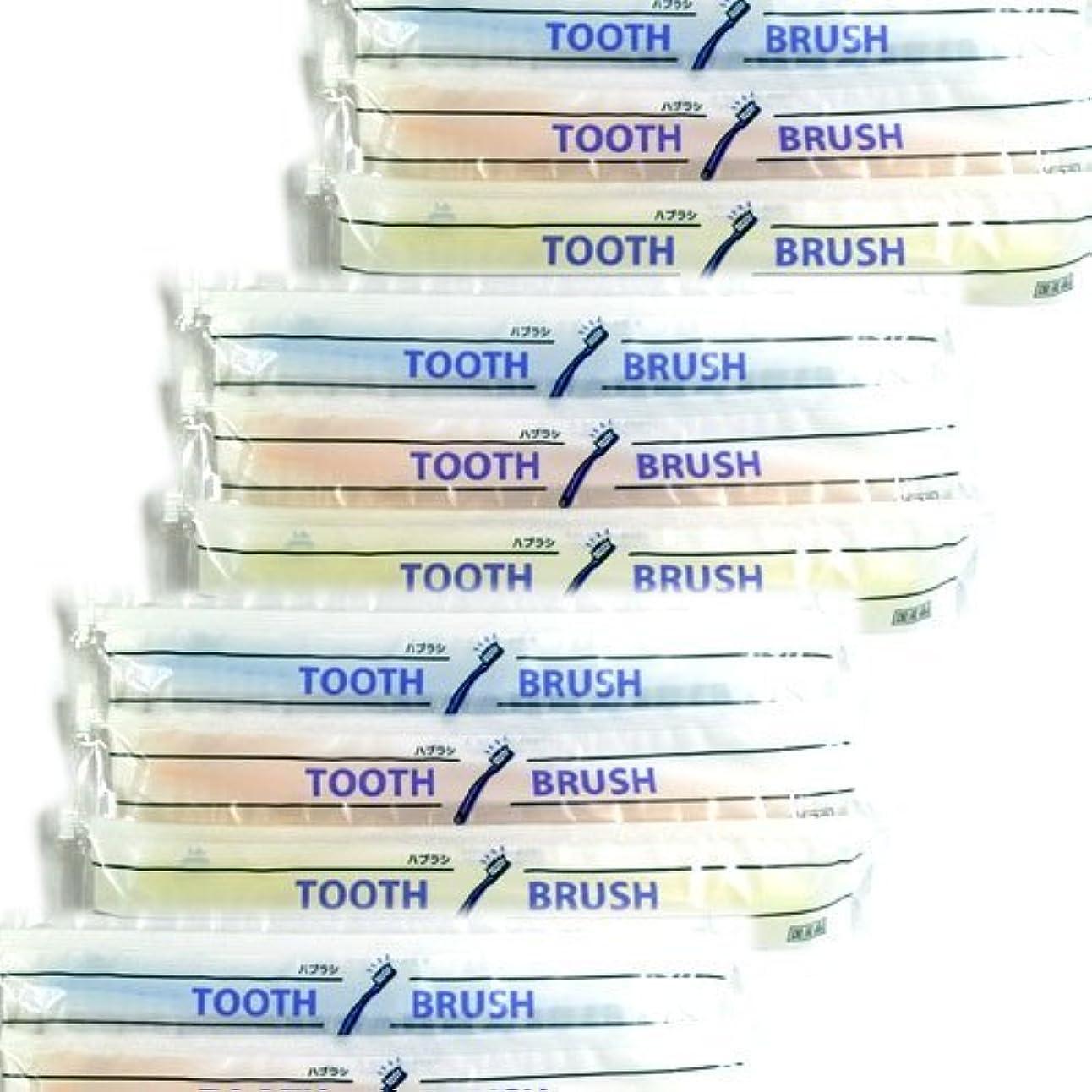 ワイプ保護するランチホテルアメニティ 業務用 使い捨て(インスタント) 粉付き歯ブラシ × 20個セット
