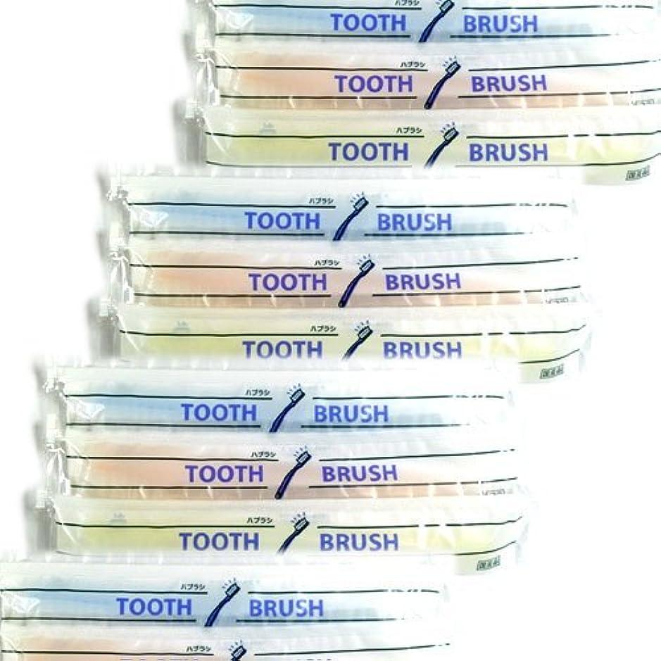 ホテルアメニティ 業務用 使い捨て(インスタント) 粉付き歯ブラシ × 100個セット