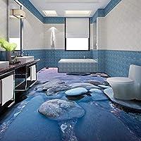Xbwy カスタムストーンストリートウォーター3Dベッドルームバルコニーの床の装飾の壁紙レストランの廊下の壁画-120X100Cm