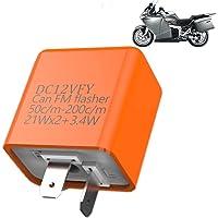 YOKELLMUX フラッシャーリレー ICウインカーリレー バイクライト 点滅 LED 省電力 フラッシャー オートバ…