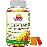 Multivitamin Gummies   Vegan Friendly, Kosher Halal NO Gluten or Gelatin, no GMO  for Men, Women & Kids  3 Natural Flavors  