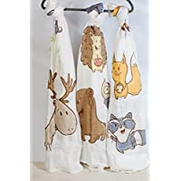 Forest Friends 100% Bamboo Swaddle Blanket 47x47 (47 x 47) Best Baby Shower Gift Muslin Swaddle Blanket Stroller Cover Large Baby Swaddle Receiving Blankets Hedgehog Owl [並行輸入品]