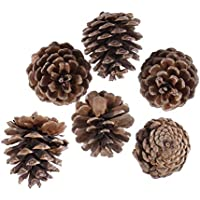 YeahiBaby 36PCS Natural Christmas Pine Cones No Processing Cones with Sling Christmas Tree Pendant Decorations 3-4cm