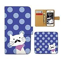 (ティアラ) Tiara Disney Mobile SH-02G スマホケース 手帳型 ねこ 手帳ケース カバー 猫 ドット ネコ ヒゲ スカーフ F0222030072102