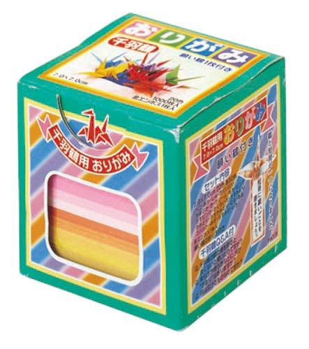 トーヨー 千羽鶴用折紙 7cm角 002003 20色 1,000枚入