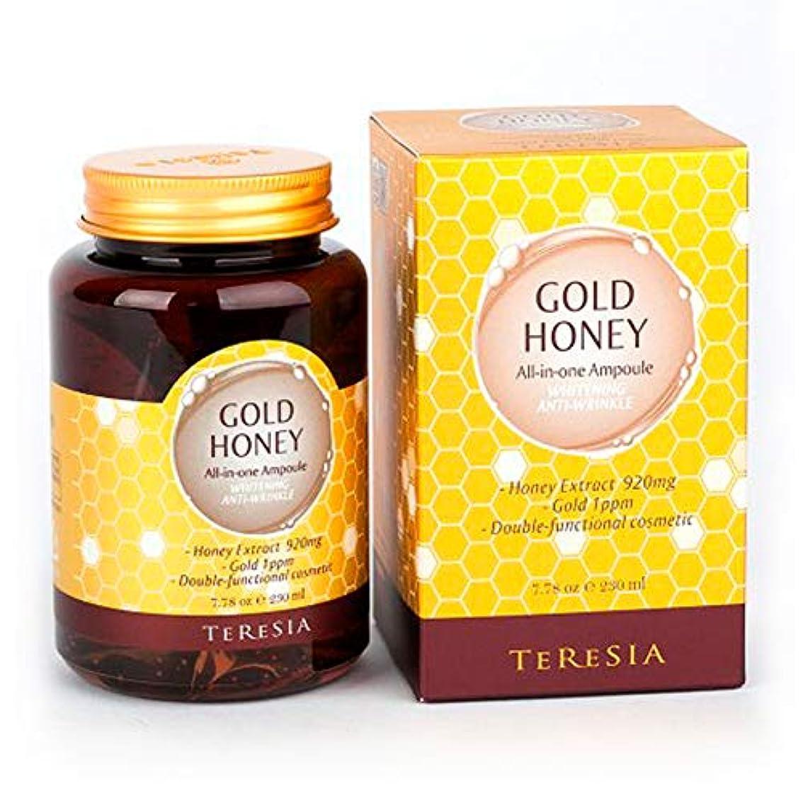 構築するプラカードプラカード[(テルシア)TERESIA] テルシア·ゴールドハニー大容量 230ml オールインワン·アンプル シワ,美白二重機能性化粧品