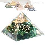 高品質 ピラミッド オルゴナイト レイキ マントラシンボル 置物 (【アベンチュリン】)