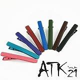 [ATK21] (2本セットSサイズ) マットカラー クリップピン ダッカール シンプル 無地 前髪 艶消し レディース ヘアアクセサリー 大人可愛い (レッド)