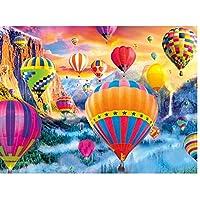 カラフルな熱気球フルドリルダイヤモンド塗装風景5D Diyキット用ホーム壁の装飾ギフトラインストーンクリスタル刺繍写真クロスステッチ、40X50Cm
