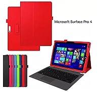windykids Surface pro4 ケース pro 4 カバー 赤 スタンドケース スタンド スタンドカバー スマートケース surface-Pro4(1case) surface-Pro4,赤(1case)