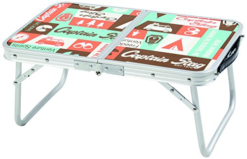 キャプテンスタッグ(CAPTAIN STAG) キャンプ BBQ用 テーブル 机 アルミ 二つ折り テーブル コンパクト 56×3...