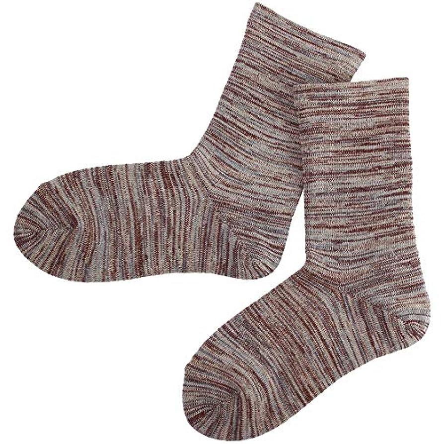 衛星ストッキングマナー温むすび かかとケア靴下 【足うら美人ゆったり楽々タイプ 女性用 22~24cm モカグレー】 ひび割れ ケア