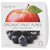 Clearspring Organic Apple & Blueberry Puree (2x100g) 有機リンゴとブルーベリーピューレ( 2X100G )をclearspringは