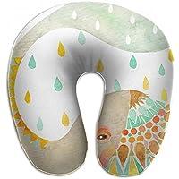 Merlin Quintina 象 ゾウ 雨 水 抱き枕 U字型クッション 首枕 ネッククッション 旅行ピロー360度快適な睡眠 子宮頸椎 保護 ポータブル
