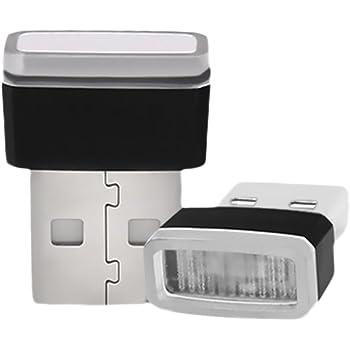 TAUWELL高品質 USB LED イルミライト 車用 USBイルミカバー ロマンチックな雰囲気作り 夜間ライト プレゼント 1組1個 (レッド)
