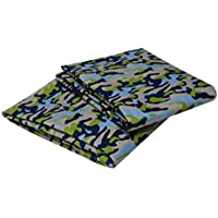 Bacati Crib Fitted Sheet Camo Printed (Pack of 2) [並行輸入品]