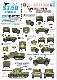 スターデカール 1/35 第二次世界大戦 ポーランド軍 イタリア戦線での装輪装甲車と駆逐戦車 1943-45 3 プラモデル用デカール SD35-C1242