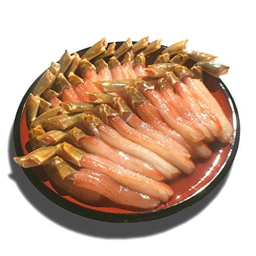 黒帯 ギフトセット 生ズワイガニ 脚 特大 生 ずわい蟹 足 棒肉 ポーション かに むき身 良品選別済 (500g 20-25本前後入) -