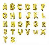 文字で伝える装飾・演出 35cm アルミ ゴールド 文字 バルーン アルファベット 組み合わせ 自由 名前 結婚 誕生日 開店 (空気入れ)