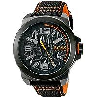 1356bd7e326 HUGO BOSS Orange Men s  NEW YORK  Quartz Resin and Canvas Casual Watch