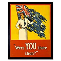 Propaganda War Wwi Australia Gallipoli Disaster Flag Battle Art Print Framed Poster Wall Decor 12X16 Inch 宣伝戦争オーストラリア戦いポスター壁デコ