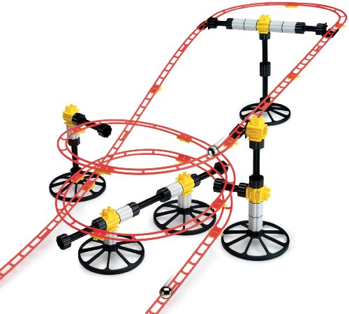 Quercetti Roller Coaster Mini Rail Set -150pc, 8 Meters, Kids Ages 6-12, Building Blocks for Marbles Game Maze Tracks