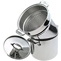All-Clad 5807 Stainless 7-Quart Stockpot with Pasta Insert by All-Clad
