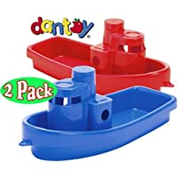 Dantoy Stacking Tug Boats Red & Blue Gift Set Bundle - 2 Pack by The Original Toy Company [並行輸入品]